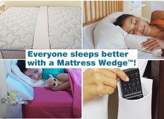 sleep better with mattress wedge