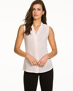 Blush is an easy alternative to white for office attire.