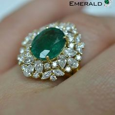 Elegant Emerald ring to enhance the beauty of your hand.