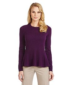 Antonio Melani Carolina Peplum Cashmere Sweater #Dillards