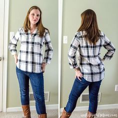 Stitch Fix Review: Torrey Henley Button Top. This is definitely my style…I loved the plaid print and the length was perfect for wearing with leggings. I wish it had been a tiny bit more fitted at the waist/ribcage so it was more feminine/flattering. Sent back...but *slightly* regretting that.