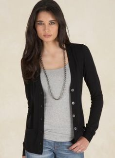 simple look for a black cardigan...(I'm kind of on a cardigan kick right now!)