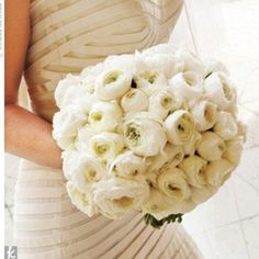 Something very classic about an all white bouquet (especially since I am leaning toward a non-white dress)