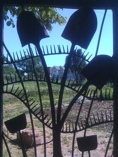 Gate to the Kentucky Gardens, a 200-family community garden in Cleveland OH.