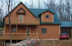 Fake log siding spruces up your home with no need for the use of real spruce