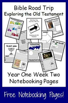 {Free Printable Notebook Pages} Bible Road Trip ~ Year One Week Two #bible