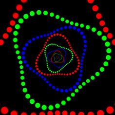 rgb dots by David Whyte Cool Optical Illusions, Art Optical, Iphone Wallpaper Video, Love Wallpaper, Illusion Gif, Night Sky Painting, Iphone Background Images, Trippy Gif, Amazing Gifs