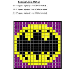 "Ravelry: Batman Logo Quilt pattern by SkullChick. Use this to stitch ""Keep Calm and Call Batman"" Logo Pattern, Pixel Pattern, Minecraft Pattern, Knitting Charts, Knitting Patterns, Crochet Patterns, Batman Quilt, Batman Crafts, Cross Stitch Patterns"