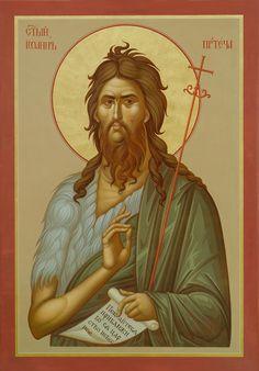 Saint John the Forerunner Religious Icons, Religious Art, Orthodox Prayers, Mama Mary, Tattoo T Shirts, Byzantine Icons, John The Baptist, Orthodox Icons, Christianity