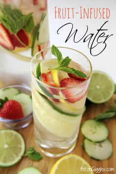8 Feel Food Fruit Infused Waters, this is a great way to hydrate your body.