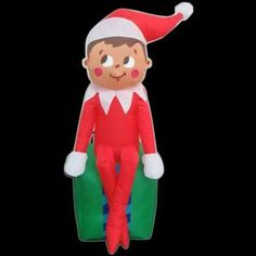 inflatable elf on present 35847 at the home depot 2998 - Home Depot Inflatable Christmas Decorations