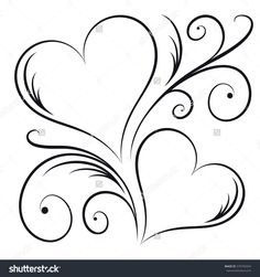 Two hearts swirl elements stock vector (royalty free) 570794344 - two hearts . - Two Hearts Swirl Elements Stock Vector (Royalty Free) 570794344 – Two Hearts With Swirl Elements - Embroidery Patterns, Hand Embroidery, Machine Embroidery, Heart Coloring Pages, Heart Tattoo Designs, Flower Doodles, Heart Art, Henna Designs, Doodle Art