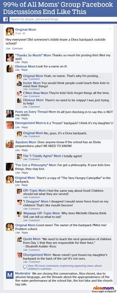 99% of All Moms' Group Facebook Discussions End Like This