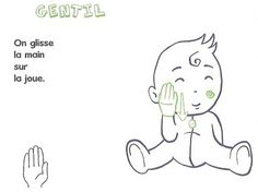 I already told you about the Baby Signs method, but today I propose to you to discover several boards to start the sign language with v - Simple Sign Language, Baby Sign Language, Quilts Vintage, Learn To Sign, French Signs, Early Reading, Needle Felted, Got Him, Photo Book