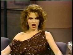 Sandra Bernhard on Late Night with David Letterman 1989
