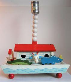 IRMI CLEARANCE Sweet Vintage Irmi Nursery Lamp  by sweetlilystudio, $20.00