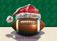 What's better than football and Roll Tide for the holidays. Crimson Tide Football, Alabama Football, Alabama Crimson Tide, College Football, Football Memes, Merry Christmas Pictures, Merry Christmas And Happy New Year, Christmas Cards, Christmas Scenes