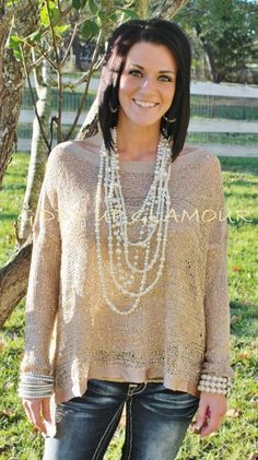 You're The One With The Sparkle Tan Top  $38.95  http://www.giddyupglamouronline.com/catalog.php?item=6581