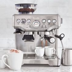 Shop Breville Barista Express Espresso Machine and more from Sur La Table! Best Coffee, Iced Coffee, Coffee Shop, Coffee Maker, Coffee Time, Coffee Art, Coffee Drinks, Coffee Enema, Coffee And Espresso Maker