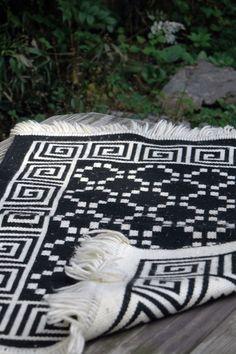 vintage aztec rug $24