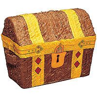 Treasure Chest pinata to bust open for booty! YARRR!!! #YoYoBirthday