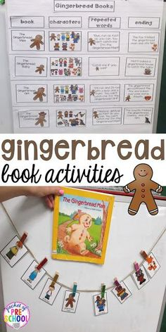 Fun gingerbread book comparison activities for your preschool, pre-k, tk, and kindergarten students. Perfect for your gingerbread theme.