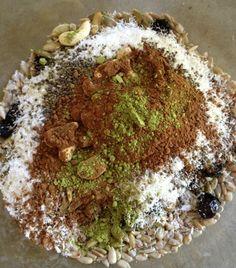 "Chia ""super"" cereal with matcha & carob | Paleo Kitchen Lab"