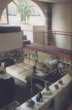 Gae Aulenti Milan Apartment - photo by Steve Lovi for Vogue UK - Sep 1984