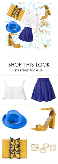 """""""lucky"""" by dogca ❤ liked on Polyvore featuring Beauty & The Beach, Mademoiselle Slassi, Steve Madden, Nancy Gonzalez and Loushelou"""