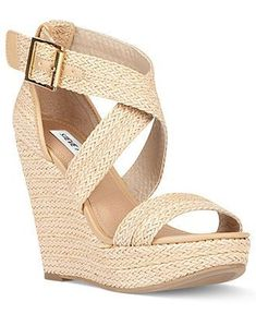Steve Madden Shoes, Haywire Platform Wedge Sandals - Espadrilles & Wedges - Shoes - Macys #WedgeSandals