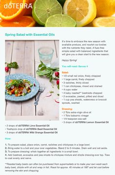 Spring Salad with doTERRA essential oils