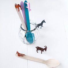 Des cuillères avec des animaux DIY