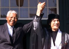 Nelson Mandela (South Africa) and Muammar Gaddafi (Libya)