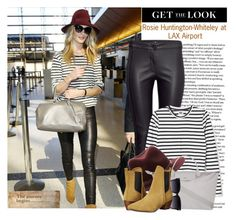 """""""Get the Look: Celebrity Airport Style"""" by sarah-crotty ❤ liked on Polyvore featuring Whiteley, rag & bone, Longchamp, Report, women's clothing, women, female, woman, misses and juniors"""