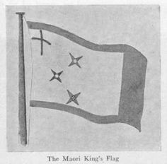 The Maori King's Flag Nz History, History Images, Long White Cloud, White Clouds, Maori People, Nz Art, Maori Art, World Cultures, New Zealand