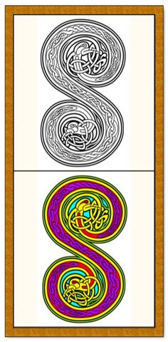 Clear sharp outlines. This Celtic alphabet art therapy coloring book is $4.99 at Etsy. More printable coloring book pages for adults and big kids at https://coloringbookspages.etsy.com