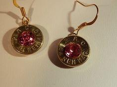 Bullet Jewelry -Gun Shell Earrings -Shot gun shell - Bullet Earrings - Gun Shell Jewelry- Swarovski crystals - dangle earring -