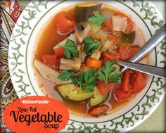 Low-Fat Vegetable Soup - Weight Watchers (Includes links to other recipes)