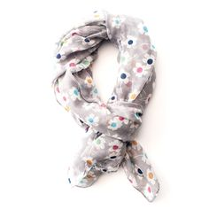 Bouncing petals grey scarf - Gogo Chic Jewellery & Fashion Accessories