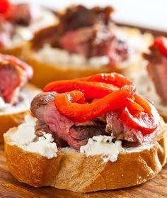 Flank Steak Goat Cheese Tapas Bruschetta Recipe