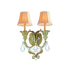 View the Crystorama Lighting Group 6702 Voltaire 2 Light Double Wall Sconce at LightingDirect.com.
