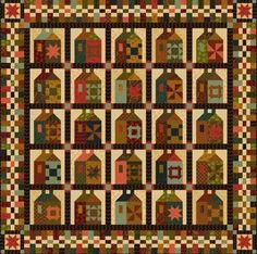 "Journey's End Blocks of the Month. Once Again, Kim Diehl gives you rich fabrics and sweet patterns but this time in a large quilt! Kit 1 will start you on your way with 5 blocks. (Your final quilt with all BOMs will be 66 1/2"" by 66 1/2"") Civil War style fabrics in rich new colors."