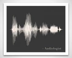 Audiologiste Art Print Don  Sound Wave & vocal par VoiceAndSound