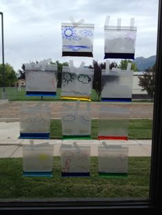 Fun science experiment for the water cycle