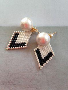E458 хлопок жемчуг и серьги с бриллиантами/серьги |Пирс|шафран|силы продаж и продаж Creema
