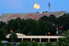 Super Moon rising over Death Valley in Clemson