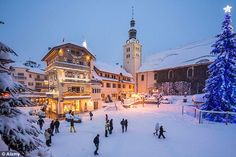 Fabulously fashionable: Megeve has been a magnet for chic skiers since the Twenties