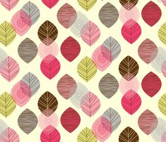 linear leaves fabric by amel24 on Spoonflower - custom fabric