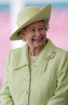 Queen Elizabeth, 2004. Love Queen Elizabeth II when she  is smiling.