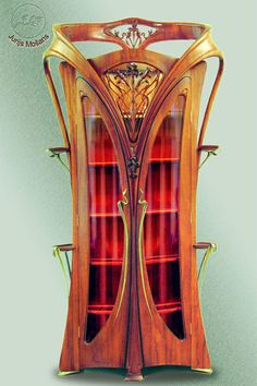 Jugendstil furniture as art in the art nouveau style. As beautiful an example that you could hope for.